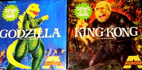 godzilla & King Kong box covers