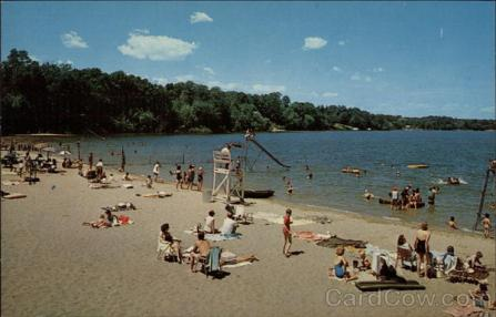 Beach Scene, Lake Ronkonkoma Long Island
