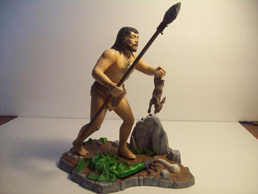 Model kits cro magnon and neanderthal man refurbish aurora