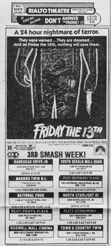 friday the 13th ad