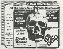 the evil dead drive in ad