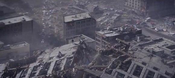 Godzilla 2014 - destruction
