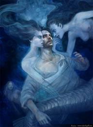 Mermaids lure men to their watery deaths