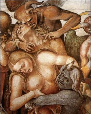 Signorelli's - The Damned are taken to Hell