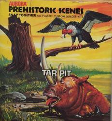 Aurora Prehistoric scenes Tar Pit