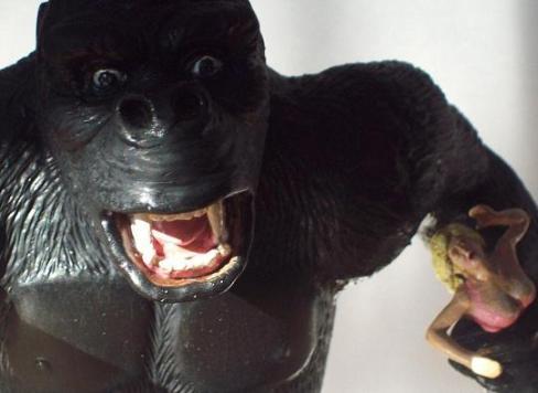 King Kong Aurora Custom Head close up 3