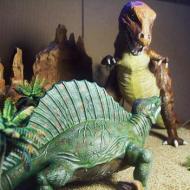 retro dinosaur diorama 1