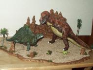 retro dinosaur diorama 3
