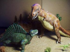 T Rex Dimetrodon battle pic 14