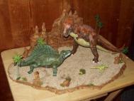 T Rex Dimetrodon battle pic 16