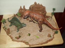 T Rex Dimetrodon battle pic 4