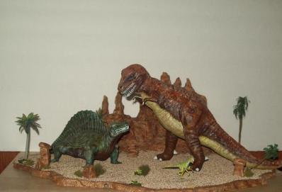 T Rex Dimetrodon battle pic 5