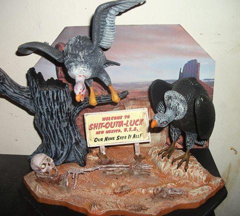 Kevin Lewis Kit Bash Tar Pit Vulture, Tree, plus