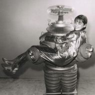 lost in space - ok, she's not in distress, she's being saved