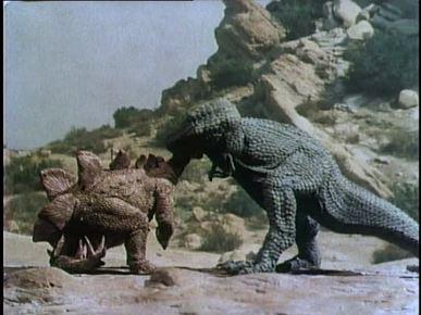 T Rex vs Stegosaurus!