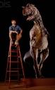 Stephen Czerkas with Carnotaurus Dinosaur Statue