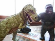 Kong and T Rex on break