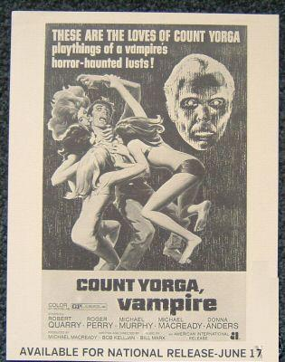 Count Yorga newspaper Ad