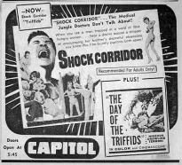 Shock Corridor and Day of the Triffids