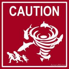 sharknado warning sign