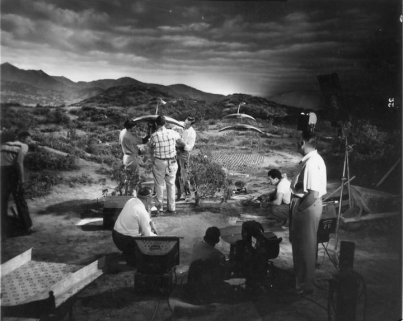War of the Worlds - on set