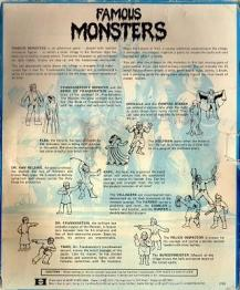 famous monsters game back cover
