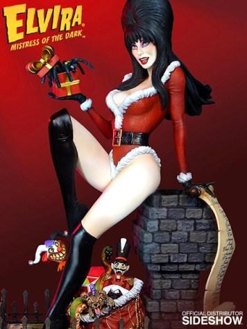 elvira scary christmas maquette