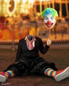scary clown balloon