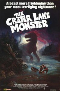 Crater Lake Monster 1977 - poster