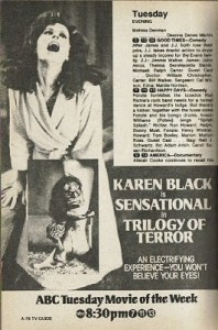 trilogy of terror - TV Guide ad