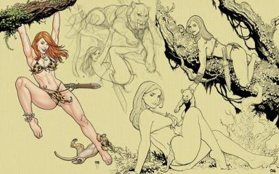 Frank Cho - shanna the she devil page pic 2