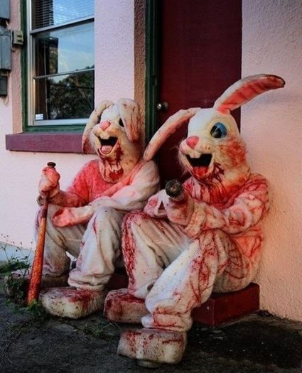 happy horrified Easter