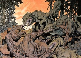 bernie wrightson - allosaurus