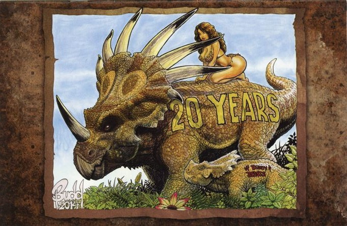 T-REX Tyrannosaurus Frank Frazetta Vintage Art 1969 Dinosaur Triceratops Caveman