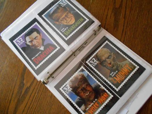 Classic movie monsters stamps & postcards 6