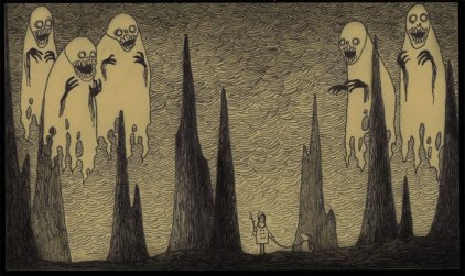 John Kenn mortensen - post it monsters 22