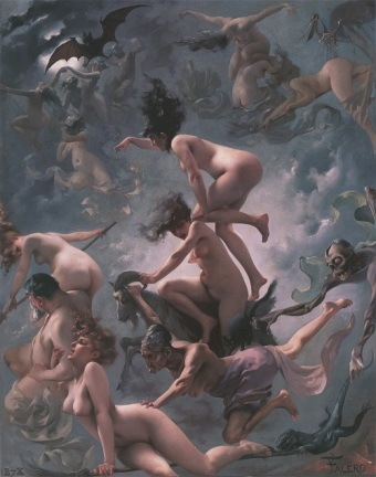 Luis Ricardo Falero - Witches going to their Sabbath (1878)