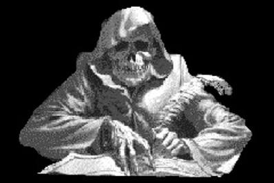 skeleton-writing-letter