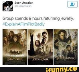 movie summary - Lord of the Rings