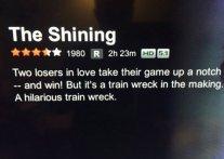movie summary - The shining
