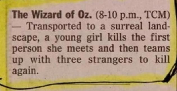movie summary - Wizard of Oz