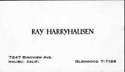 Ray's business card